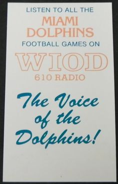 1977 Miami Dolphins Football Schedule