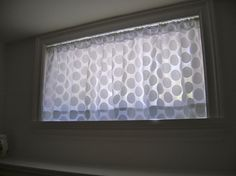 Beautiful Small Curtains for Basement Windows