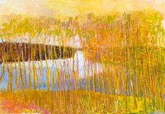 Wolf Kahn at the Jerald Melberg Gallery White Center 2014 Oil on Canvas 36 x 52 inches