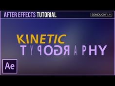 After Effects Tutorial: Kinetic Typography Motion Graphics - YouTube