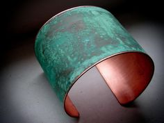 Green Verdigris Patina Copper Cuff ($56.00) - Svpply
