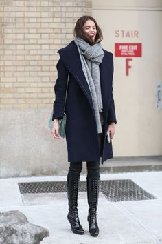 Below-Freezing NYC Street Style That's Still Fire #refinery29  http://www.refinery29.com/2015/02/82279/new-york-fashion-week-2015-street-style-pictures#slide-42  With a scarf like this, you can laugh in the face of any weather advisory....