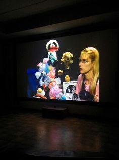 Kim Gordon on the projector. Kim Gordon, Daydream