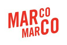 Acre, the design studio based in Singapore work on the branding of Marco Marco, a panini restaurant. Marco Marco explores using local ingredients and food culture as an inspiration for their dishes… Typography Logo, Logo Branding, Brand Identity, Branding Design, Logo Design, Visual Identity, Burger Branding, Branding Iron, Corporate Identity