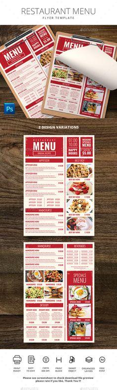 restaurant menu menu design hipster download a https graphicriver