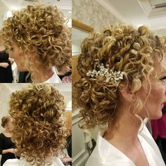 Show Off Your Beautiful Curls With These 24 Curly Updos It's time to wrangle your curly hair into a pretty updo. Which curly hair updo would work best on you? Let's find out! Medium Hair Styles, Natural Hair Styles, Short Hair Styles, Long Curly Hair, Short Curly Updo, Curly Hair Updo Wedding, Wedding Hairstyles For Curly Hair, Natural Curly Hair Updos, Curly Girl