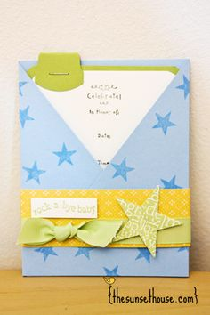 Stampin' Up Baby Shower Invitations