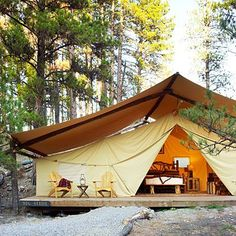 Luxury Glamping ~ The Resort at Paws Up ~ Montana http://www.pawsup.com/index.php http://campinglovers.org/tent-camping-tips/
