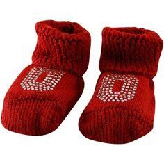 $9.95 Ohio State Buckeyes Newborn Scarlet Rhinestone Gift Box Booties