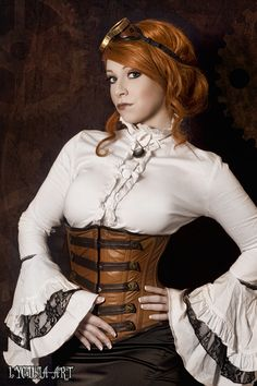 I will be the first to tell you I like the look of an underbrush corset and flared sleeves. Always have.