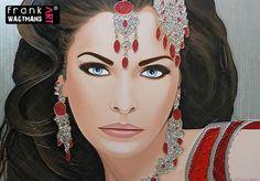 Indian girl painting Secret Desire