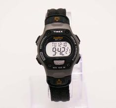 Black Timex Ironman Sports Watch for Men and Women Digital Display – Vintage Radar Timex Expedition, Timex Indiglo, Timex Watches, Rubber Watches, Watch Model, Timeless Beauty, Watch Brands, Men And Women