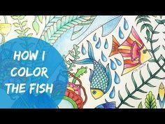 Lost Ocean Coloring Book | How I color the fish | Oceano Perdido