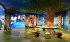 kid themed room | Disney Cruise Line - Disney Dream - Pixie Hollow, in the Oceaneer Club