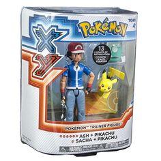 Conjunto de Bonecos Pokémon - Ash e Pikachu - Tomy