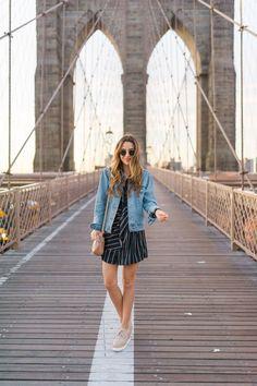 NYFW | The Brooklyn Bridge at Sunrise - Oh So Glam