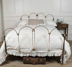 Find This Pin And More On Furniture Collection Amelia Antique Iron Bed