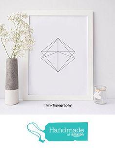 Abstract, Simple, Modern, Trendy, Black and White, Poster, Polygonal, Geometric, Geometrical, Art Print, Wall Art, Home Decor, Scandinavian from Serif Design Studios https://smile.amazon.com/dp/B01DNNT1LE/ref=hnd_sw_r_pi_dp_3t5czbX05B2HT #handmadeatamazon