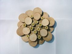 Rustic Tree Slice Wall Art Flower Sculpture by DavesCustomSigns, $45.00