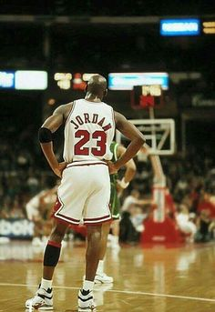 The GOAT during a pause in play against the Bucks in Chicago.