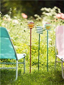 Neat outdoor drink holders! I picked some of these up last summer at the local hardware store. Love them!
