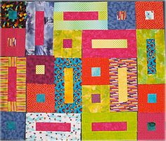 29 Easy Quilt Patterns for Beginning Quilters: Bricks & Cobblestones Quilt Pattern