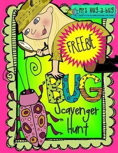 Bug Scavenger Hunt - FREEBIE (OUTDOOR ACT)