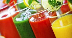 sucos para emagrecer coloridos