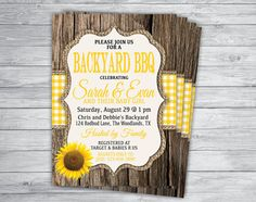 Any Color/Event YELLOW GINGHAM SUNFLOWER Baby Q Baby by PrintPros