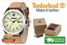 Relógio Timberland TBL-03-GS-14324JS- Caixa de aço inoxidável- Mostrador Tonalidade Madeira- Exibição da data- Diâmetro  45 x 55 mm- Bracelete em Couro - Movimento de quartzo- Cristal mineral- Resistente à água até 10 ATM / 100 metros- Caixa de oferta, pode ser ligeiramente diferente da foto