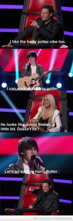 The Voice: Harry Potter Vs Justin Bieber