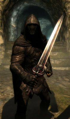 Character Build: The Nightingale Swordsman Skyrim Character Builds, Elder Scrolls Skyrim, Geek Games, Nightingale, Fantasy Inspiration, Darth Vader, Building, Movie Posters, Fictional Characters