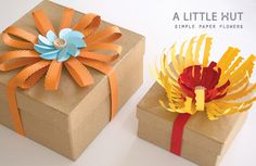 simple paper flowers by A Little Hut, via Flickr