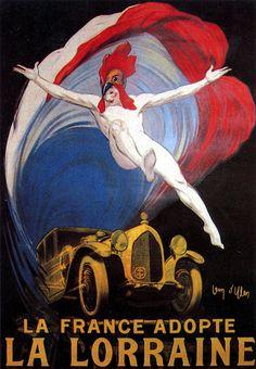 affiche Lorraine Dietrich de 1921 (lancement de la B3-6) http://patrimoineautomobile.com/la-france-adopte-la-lorraine/