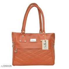 Handbags Pretty Women Handbag Material: Leather Type: Shoulder bag Multipack: 1 Sizes:Free Size (Length Size: 40 in Width Size: 30 in Height Size: 18 in)  Country of Origin: India Sizes Available: Free Size   Catalog Rating: ★4 (470)  Catalog Name: Gorgeous Attractive Women Handbags CatalogID_802583 C73-SC1073 Code: 492-5390178-795