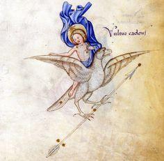 constellation Vultur Cadens Fazio degli Uberti, II Dittamondo, Milan ca. 1447 BnF,