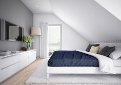 Inneneinrichtung SCHLAFZIMMER SATTELDACH * Haus Edition 1 V7 Bien Zenker * Schlafzimmer mit Dachschräge modern weiß einrichten * Einrichtungsideen Haus Ideen HausbauDirekt.de
