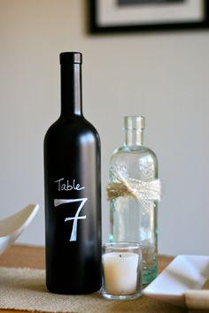 Chalkboard Paint Wine Bottle 1 Bottle  With by NookAndSea on Etsy, $9.00