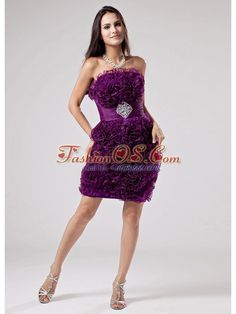 Luxurious Purple Strapless Prom Dress Ruffles Appliques With Organza  http://www.fashionos.com  where to buy prom dress | online prom dress store | strapless prom dress | beaded prom dress | prom dress with appliques | strapless cocktail dress | inexpensive prom dress in 2013 | prom dress in purple | hot sellers prom dresses | purple strapless prom dress |Be the belle of the ball in this fabulous Purple prom dress! You can find that gorgeous ruffles decorate the bust which looks charming.