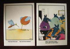 5 vintage gary larson the far side greeting cards unused assorted the far side set of 2 vintage birthday cards unused with envelopes gary larson scrapbooking crafts decoration ephemera bookmarktalkfo Images