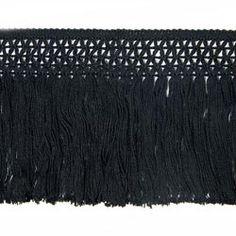 Baumwoll-Fransenband (10 cm) 8 – schwarz