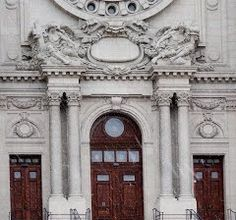 The three east portals into the narthex of the Cathedral of Saint Paul in St. Paul, MN.