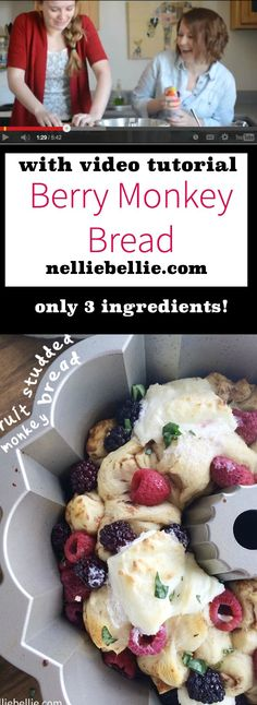 This monkey bread is delicious and easy to make!! ~nelliebellie.com #monkeybread #fast #easy