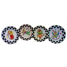 Set of 4 Monkey Business Decorative Plate Bundle (Italy) | Overstock™ Shopping - Great Deals on Dinnerware