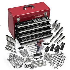 Get Started With This 283-Piece Mechanics Tool Set from Craftsman: Craftsman 283 pc. Mechanics Tool Set With Tool Box