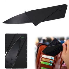 Card Knife Folding Knife Credit Card Tool Mini Wallet Camping Outdoor Pocket Too | eBay