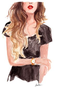 New York City based artist Inslee Fariss creates watercolor illustrations for weddings, events, brands and fine art commissions Fashion Sketches, Art Sketches, Art Drawings, Sketch 2, Fashion Drawings, Pencil Drawings, Art And Illustration, Art Illustrations, Fashion Illustrations