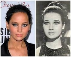 Jennifer Lawrence is listed (or ranked) 5 on the list 50+ Celebrities Who Look Exactly Like People From History