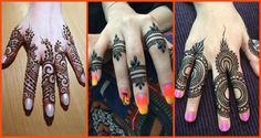Elegant and unique finger mehndi designs