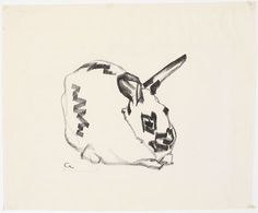 Josef Albers Rabbit (facing right)  1916Transfer lithograph  10.75 x 13.125 in  via http://art-history.tumblr.com/post/45783336727#